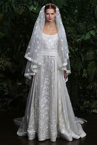 wedding dress by naeem khan fall 2014 bridal look 3 With naeem khan wedding dresses