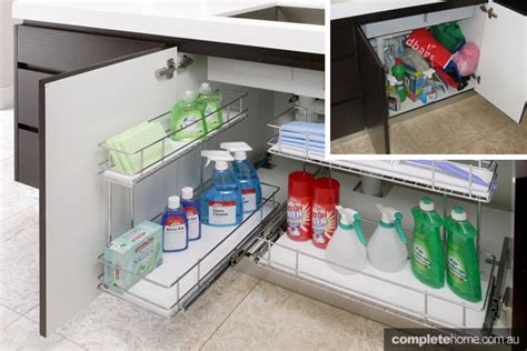 sink kitchen storage solutions top 3 storage ideas completehome 8705