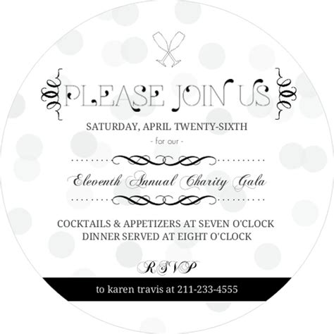 Formal Black Suit Charity Corporate Event Invitation