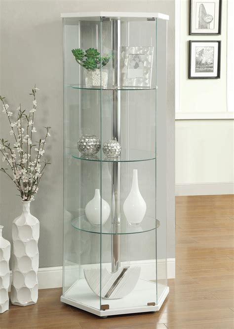 white curio cabinet coaster 950001 curio cabinet white 950001 at homelement