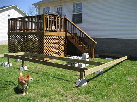 Freestanding Deck Footing Spacing by Deck Foundation Spacing Deck Design And Ideas