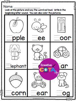 prep abc write  beginning sound worksheets