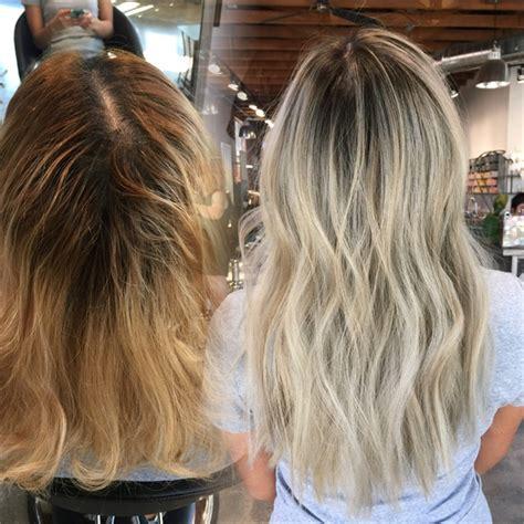 babylights  balayage   win hair color modern