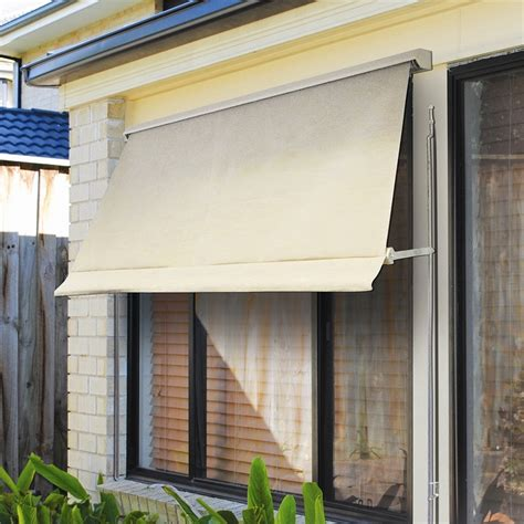 windoware    safari retractable fixed arm outdoor awning blind