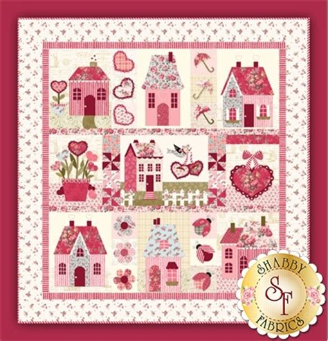 shabby fabrics kits sweetheart houses pattern