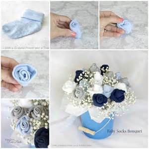 how to make a baby shower corsage diy baby clothes flower bouquet tutorial beesdiy