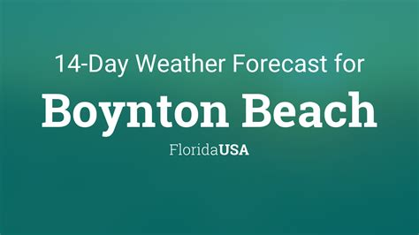 boynton beach florida usa  day weather forecast