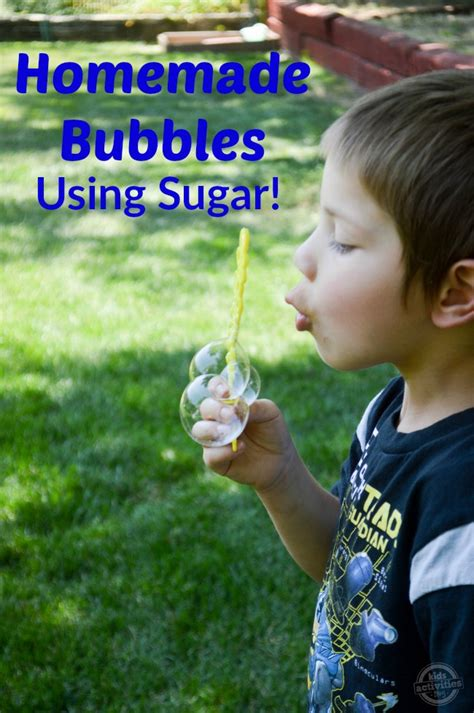 homemade bubbles  sugar