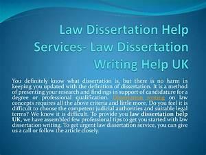 Legal dissertation