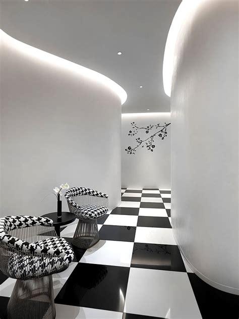 black  white luxury hotel design  club  singapore freshomecom