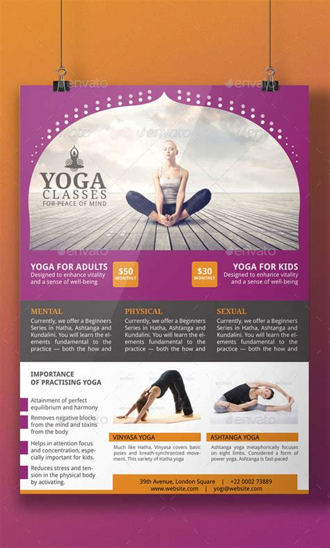 yoga flyer template  blogankids graphicriver
