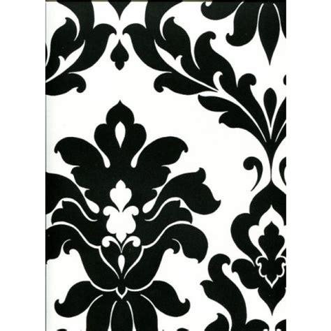 black white bold damask large pattern wallpaper vgp