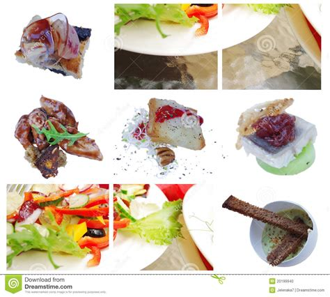 elements of haute cuisine salat antipasti stock photo image 20199940