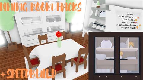 dining room hacks dining room speedbuild roblox adopt