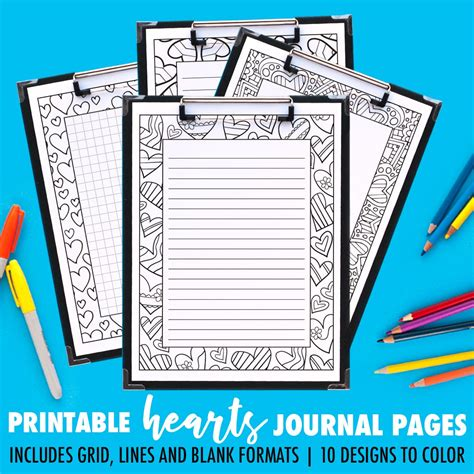 printable coloring journal pages art therapy series