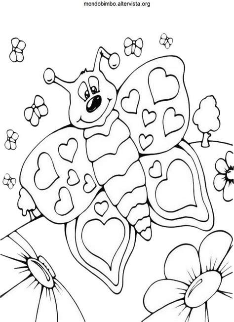 immagini colorate bellissime disegni farfalle da colorare mondo bimbo