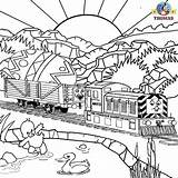 Thomas Coloring Train Printable Engine Easter Tank Worksheets Friends Fish Railroad Painting Colouring Sheets Fire Paint Magic Games Boys Watermill sketch template