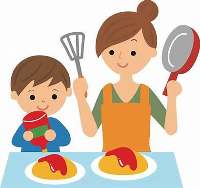 Cooking Clipart Mother Cartoon Drawing Transparent Medium