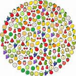 Circle Openclipart Fruit Icons Into