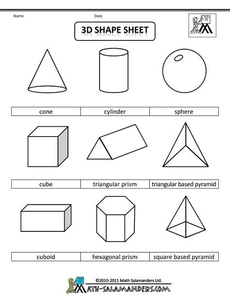 3d geometric shapes sheet bw gif 790 215 1 022 pixels lesson