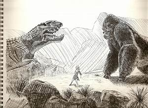 King Kong VS T-Rex by crashingdoll on DeviantArt