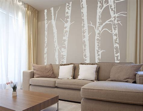 silver birch trees vinyl wall sticker contemporary wall