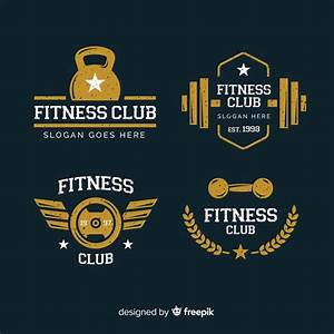 Collection of crossfit logo flat style Vector   Free Download