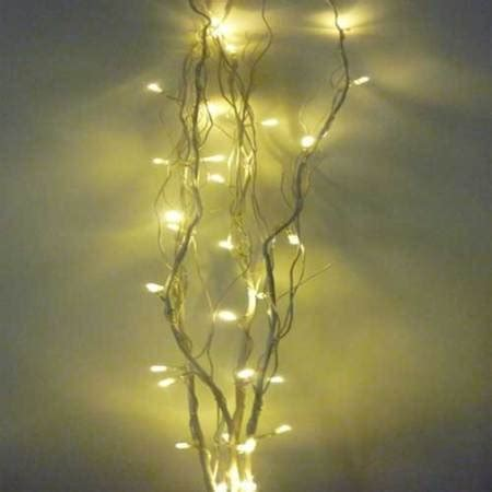 32 led battery operated warm white twig lights 4 twigs 90cm