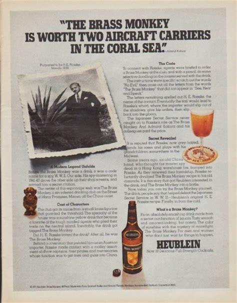 heublein vintage ad  brass monkey