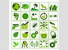 免费 eco green icon set PSD 文件、插图和图形 365PSDcom