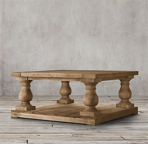 Restoration Hardware Balustrade Salvaged Wood Square Coffee Table   ShopStyle Canada Home