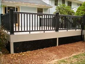 skirting for decks deck skirting ideas indoor and