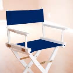 newport 18 inch navy canvas directors chair white frame