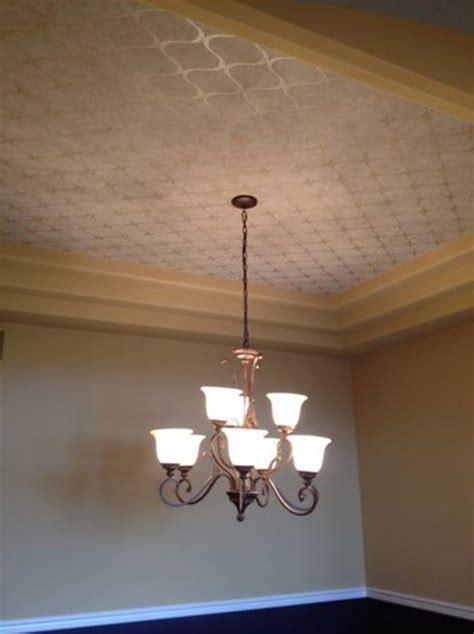 wallpaper   tray ceilingor stencil  clear gloss