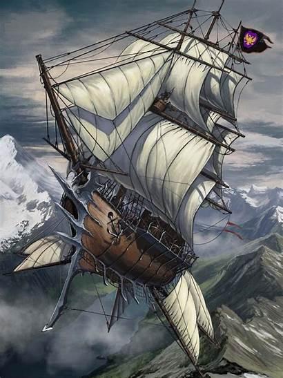 Steampunk Ship Fantasy Flying Pirate Uploaded User