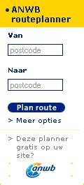 van postcode naar postcode smalle variant routeplanner