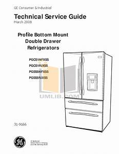 Download Free Pdf For Ge Profile Pgss5pjxss Refrigerator