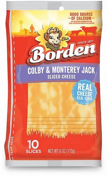 Jack Colby Slices Monterey Borden Cheese Shredded