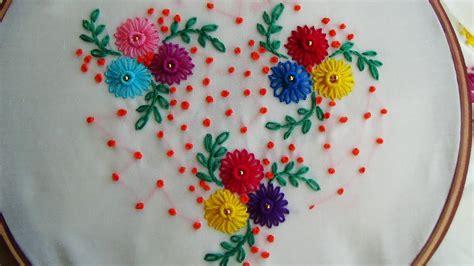 hand embroidery lazy daisy stitch simple craft ideas