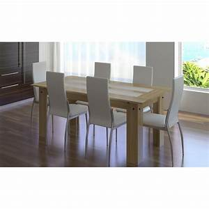 Chaise design salle a manger 11 ensemble table bois 6 for Chaise salle a manger blanche