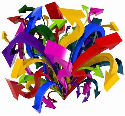 Chaos Arrows Clipart Tangled Choas Different Pointing