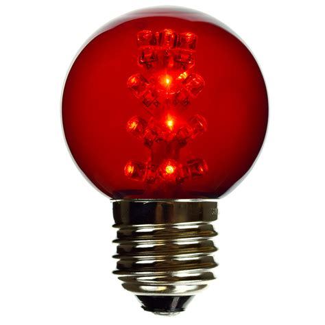 Candy Apple Red G50 Led Globe Light Bulb  E27 Medium Base
