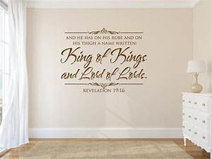 vinyl bible verse king of kings and lord of scripture With vinyl lettering scripture