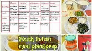 South Indian Meal Plan & Prep What we eat in a week