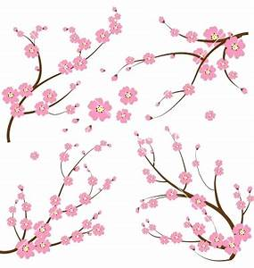 15 Japanese Flower Vector Images - Japanese Floral Vector ...