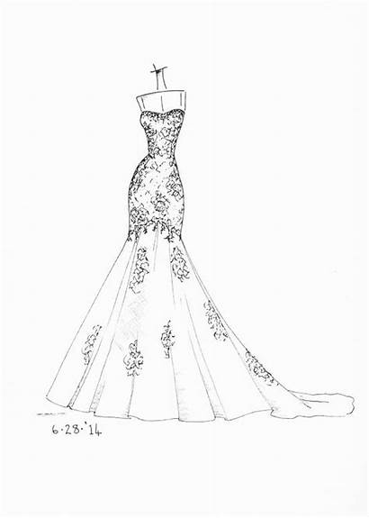 Sketches Sketch Dresses Coloring Pages Google Gowns