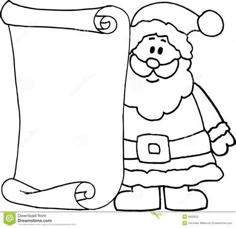 santa message letter  santa claus stock illustration