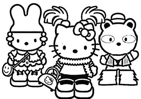 Ausmalbilder Hello Kitty Kostenlos