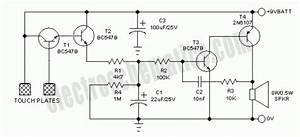 Simple Touch Alarm Circuit