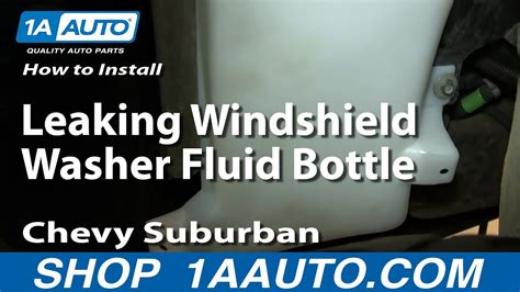 install replace leaking windshield washer fluid